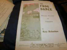 RARE ANTIQUE SHEET MUSIC 1914 THE FROG DANCE MARY RICHARDSON ASCHERBERG